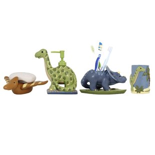 Dinosaur Kids 4 Piece Bathroom Accessory Set