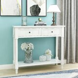 Hassler 35.43 Solid Wood Console Table by Longshore Tides