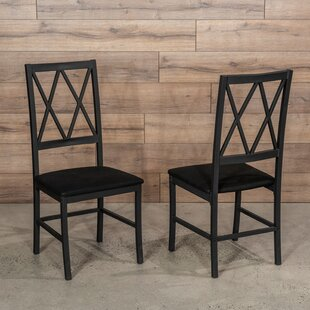 Price comparison Cape Upholstered Dining Chair (Set of 2) by Gracie Oaks Reviews (2019) & Buyer's Guide