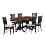 Bellino 7 Piece Extendable Solid Wood Dining Set by August Grove®