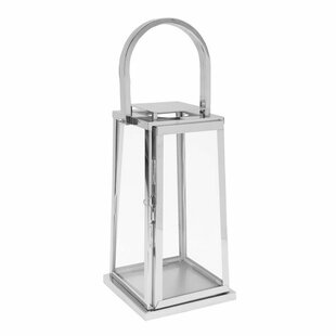 Read Reviews Square Stainless Steel Lantern By Orren Ellis