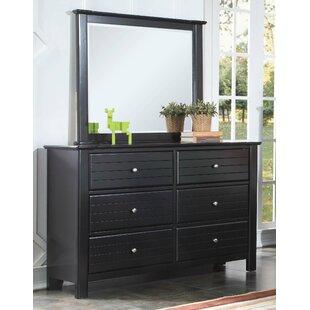 Markiewicz 6 Drawer Double Dresser with Mirror