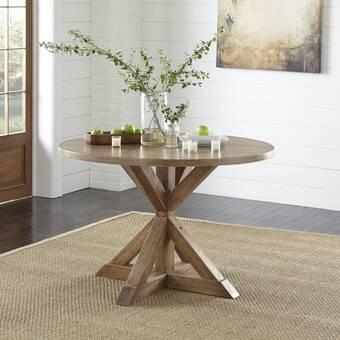 Gracie Oaks Bewdley Solid Wood Dining Table Reviews Wayfair