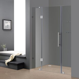 Soleil 60 x 75 Hinged Completely Frameless Shower Door ByAston