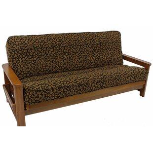 Premium Tapestry Cheetah Box Cushion Futon Slipcover by Blazing Needles
