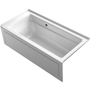 Kohler Archer Alcove Bath with Bask™ Heated Surface, Integral Apron, Tile Flange and Right-Hand Drain