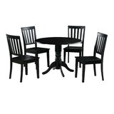 Chesterton Transitional 5 Piece Drop Leaf Solid Wood Dining Set by Alcott Hill®
