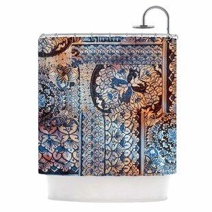 East Urban Home 'Italian Tiles' Digital Shower Curtain