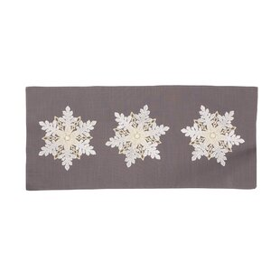 Neymar Sparkling Snowflakes Embroidered Christmas Table Runner