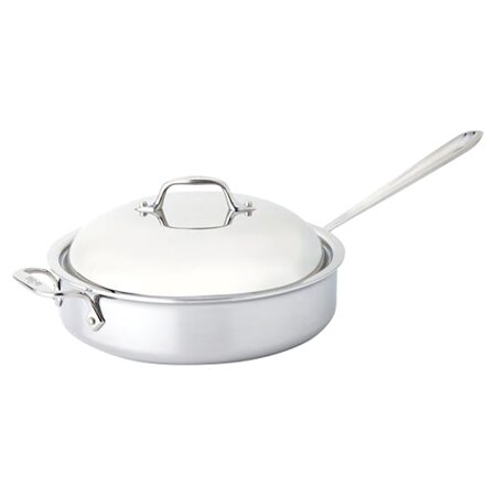 allclad stainless steel 4 qt saute pan with domed lid u0026 reviews wayfair
