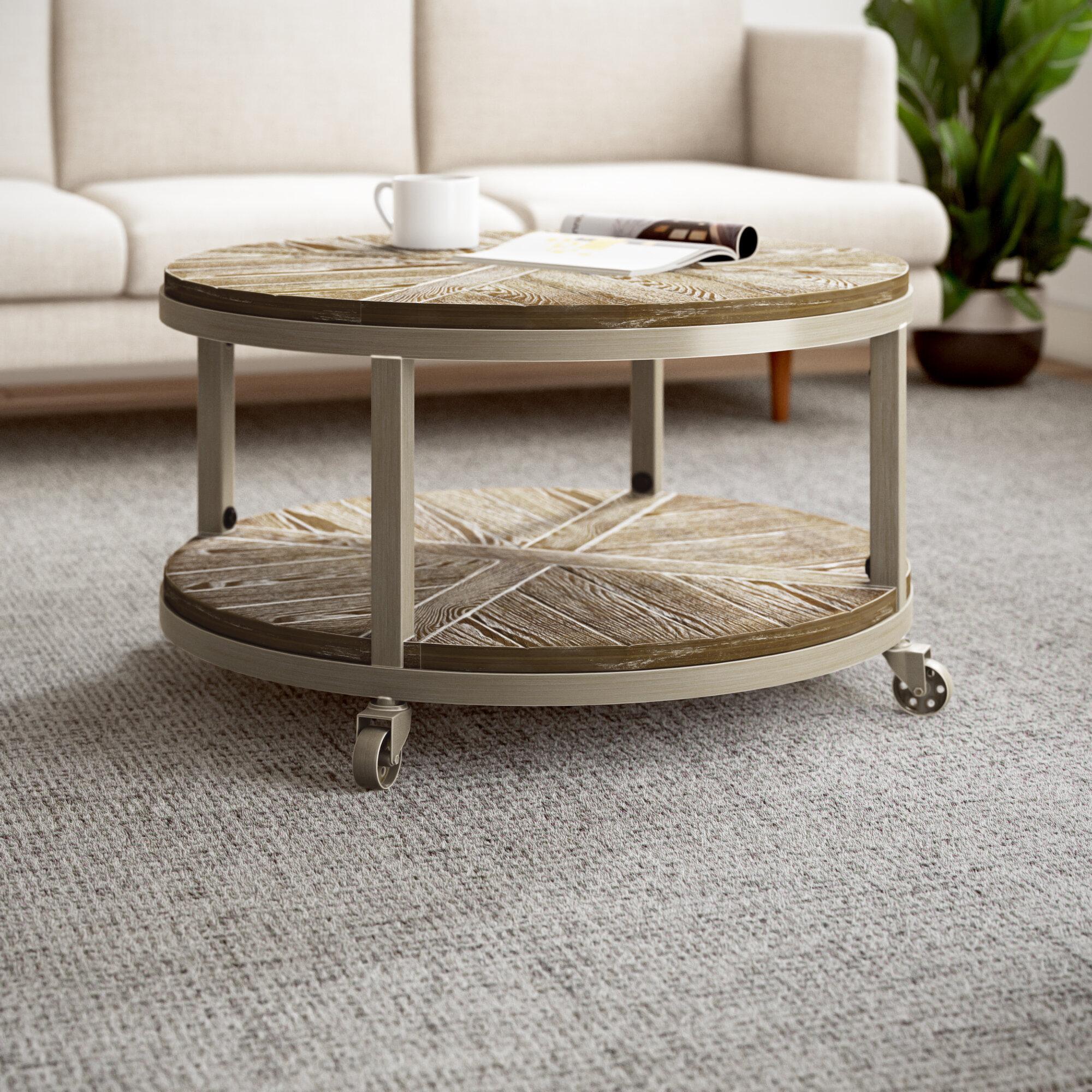 - Lonnie Wheel Coffee Table With Storage & Reviews AllModern