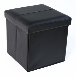 Fischer Folding Storage Ottoman by Latitude Run