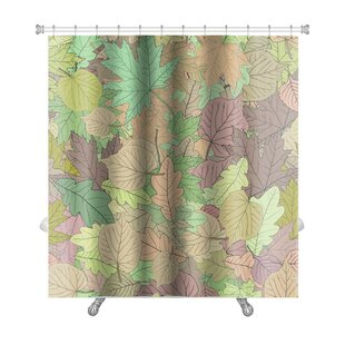 Leaves Stylized Leaf Premium Single Shower Curtain