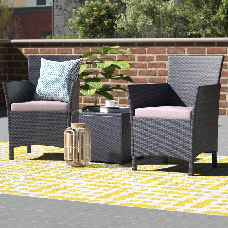 Merveilleux Minden 3 Piece Conversation Set With Cushions