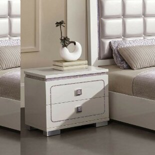 Sikora Wooden 2 Drawer Nightstand