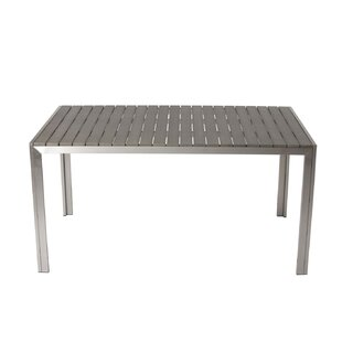 Latham Sleek and Modish Trendy Anodized Aluminum Dining Table Orren Ellis