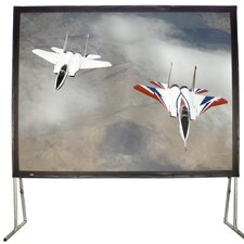 White Fixed Frame Projection Screen by Hamilton Buhl