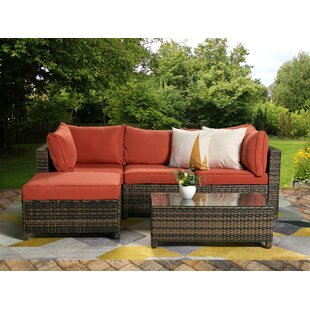Roni Patio Sectional with Cushions by Ivy Bronx
