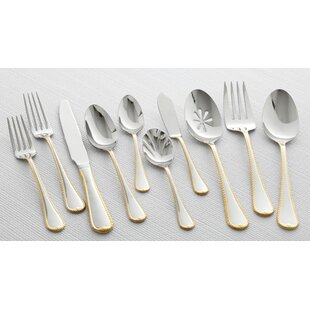 Cameo 65 Piece 18/10 Stainless Steel Flatware Set, Service for 12