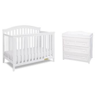 Harriet Bee Halma Convertible Standard 2- Piece Nursery Furniture