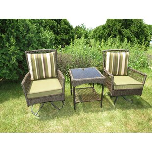 Kurudere 3 Piece Conversation Set with Cushions