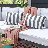 Bridgwater Rectangular Striped Outdoor Lumbar Pillow (Set of 2) bySol 72 Outdoor