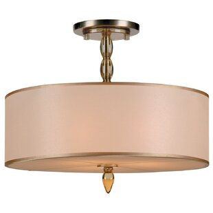 Winston Porter Stauffer 3-Light Semi Flush Mount