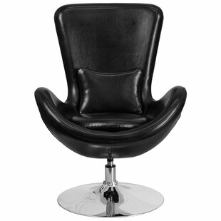 Read Reviews Whicker Leather Lounge Chair by Orren Ellis Reviews (2019) & Buyer's Guide