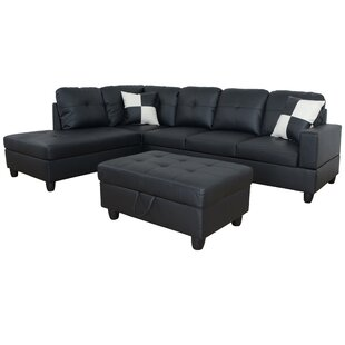 Ebern Designs Spirea Sectional with Ottoman
