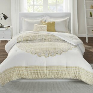 Lylah Metallic Medallion Printed Comforter Set