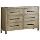 Rona Wooden 6 Drawer Double Dresser by Millwood Pines