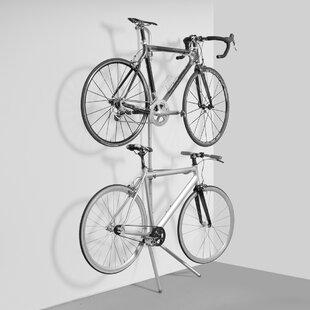 Bike Rack Galvanized Metal Durable Heavy Duty Weather Resistant Mounted Sturdy