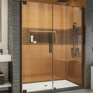 Elegance-LS 58.75 x 72 Pivot Frameless Shower Door with ClearMax™ Technology by DreamLine