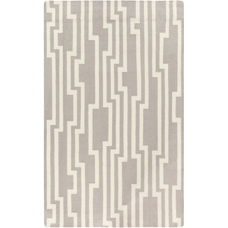 Candice Olson Carson Geometric Handwoven Wool Gray Ivory Area Rug Reviews Perigold