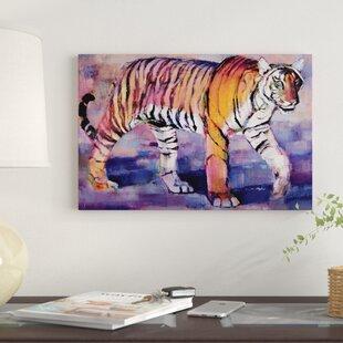 Tigress Khana India By Mark Adlington Graphic Art Print On Wred Canvas