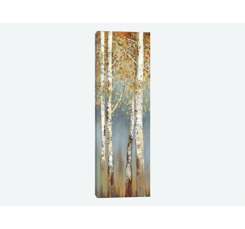 Artistic Reflections Butterscotch Birch Trees I Framed Art