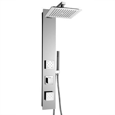 AKDY Rainfall Adjustable Head Shower Panel Finish: Mirror Chrome