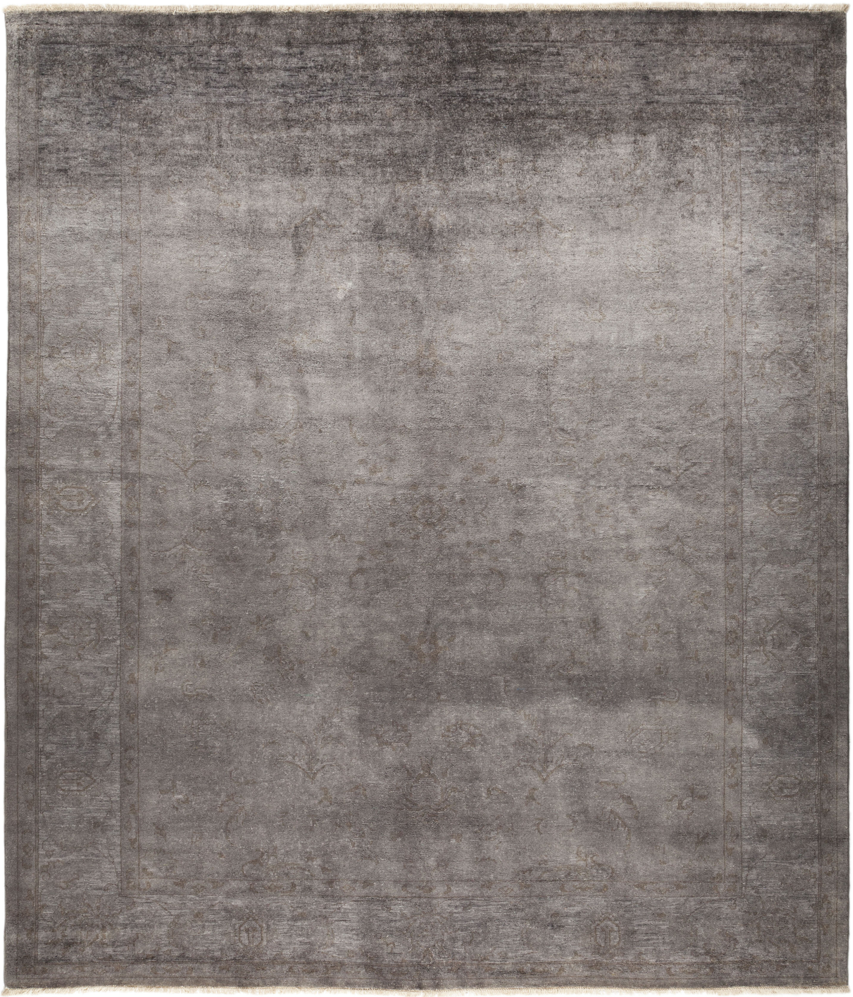 Isabelline One Of A Kind Deveraux Hand Knotted Dove 8 2 X 9 6 Wool Area Rug Wayfair