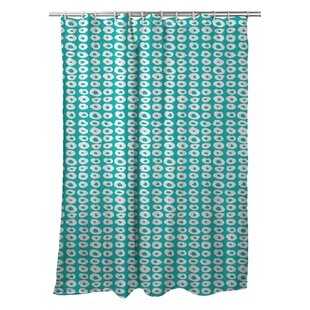Modern Doughnuts Aqua Single Shower Curtain