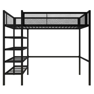 Debbi Twin Loft Bed With Bookcase