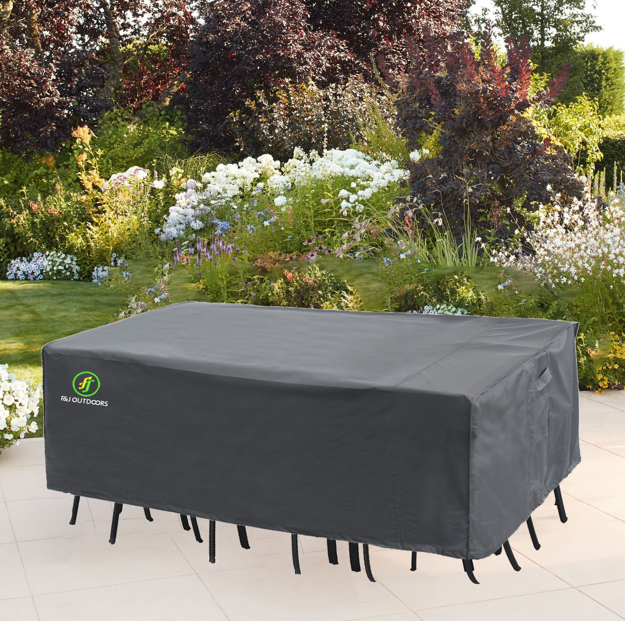 F J Outdoors Water Resistant Patio Dining Set Cover With 2 Year Warranty Reviews Wayfair