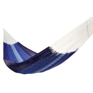 Lisa Double Tree Weaving Blue/White Hammock by Freeport Park