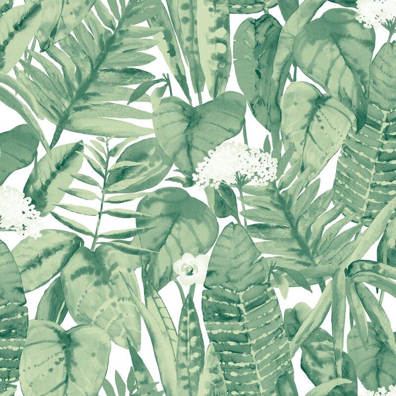 Tempaper Tropical Jungle 33 L X 21 W Abstract Peel And Stick Wallpaper Roll Perigold