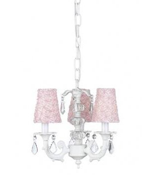 Stacked 3-Light Shaded Chandelier