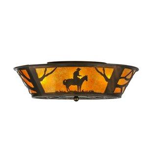 Meyda Tiffany Cowboy 4-Light Flush Mount