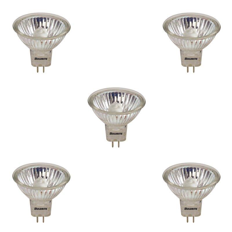Bulbrite Industries 50 Watt 50 Watt Equivalent Mr16 Halogen Dimmable Light Bulb 2900k Gu5 3 Bi Pin Base Wayfair