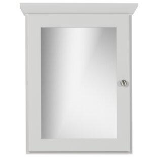 Chehalis Single Door 19 x 27 Surface Mount Framed Medicine Cabinet with 3 Adjustable Shelves