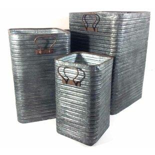Yasmine 3 Piece Metal Cachepot Set By Williston Forge