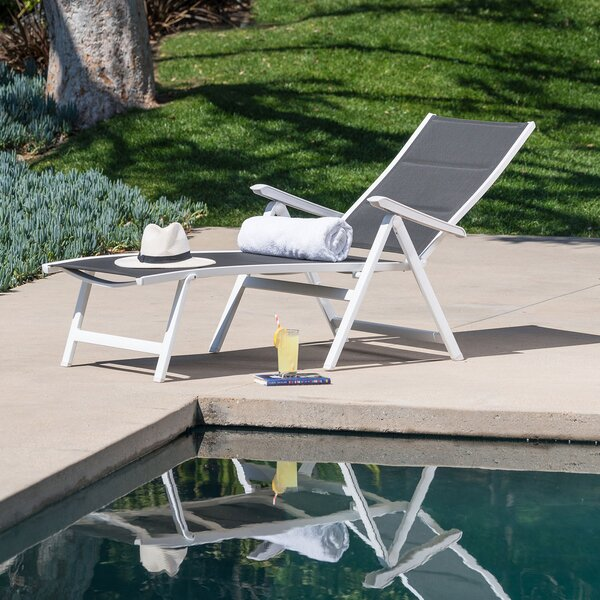 Ebern Designs Mōd Furniture EVERCHS-W-GRY Everson Padded ... on Living Accents Sling Folding Chaise id=40769