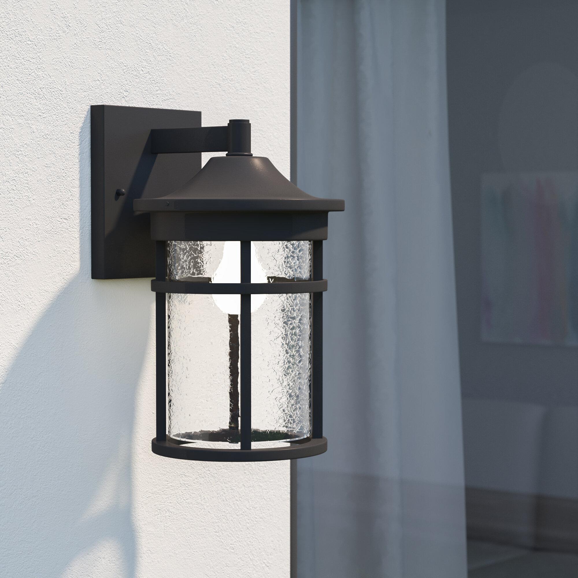 Latitude Run Ilene 1 Bulb Outdoor Wall Lantern Reviews Wayfair